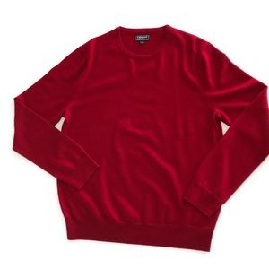 Express Mens Red 100% Marino Wool Sweater Large
